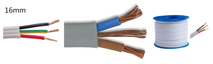 16mm twin and earth cable free sample and package